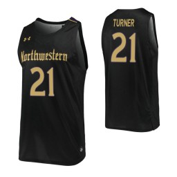 Northwestern Wildcats #21 A.J. Turner Black Authentic College Basketball Jersey