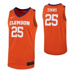Youth Clemson Tigers #25 Aamir Simms Orange Authentic College Basketball Jersey