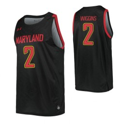 Women's Maryland Terrapins #2 Aaron Wiggins Black Authentic College Basketball Jersey