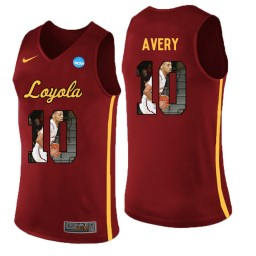 Women's Loyola (Chi) Ramblers #10 Adarius Avery Authentic College Basketball Jersey Red