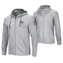 Air Force Falcons Heathered Gray OHT Military Appreciation Waffle Knit Hoodie