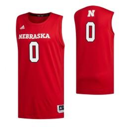 Women's Nebraska Cornhuskers #0 Akol Arop Scarlet Authentic College Basketball Jersey
