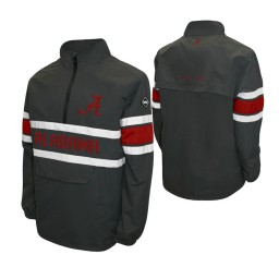 Alabama Crimson Tide Gray Alpha Windshell Quarter-Zip Jacket
