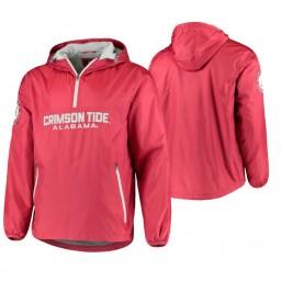 Alabama Crimson Tide Crimson Base Runner Half-Zip Jacket