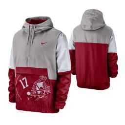 Alabama Crimson Tide Gray Colorblock Anorak Quarter-Zip Jacket