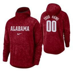 Alabama Crimson Tide Custom Crimson Basketball Spotlight Pullover Hoodie