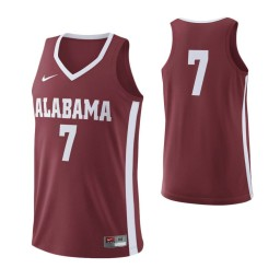 Alabama Crimson Tide #7 Authentic College Basketball Jersey Crimson