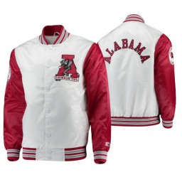 Alabama Crimson Tide White Crimson The Legend Full-Snap Jacket