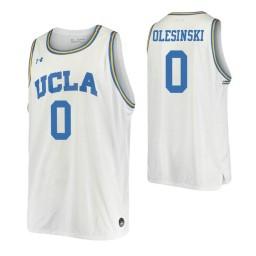 Women's UCLA Bruins #0 Alex Olesinski White Authentic College Basketball Jersey