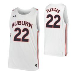 Allen Flanigan Authentic College Basketball Jersey White Auburn Tigers