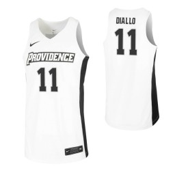 Women's Providence Friars #11 Alpha Diallo White Authentic College Basketball Jersey