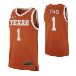 Youth Andrew Jones Authentic College Basketball Jersey Texas Orange Texas Longhorns