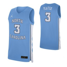 Andrew Platek North Carolina Tar Heels Carolina Blue Authentic College Basketball Jersey