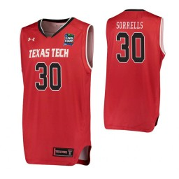 Youth Andrew Sorrells Texas Tech Red Raiders Red 2019 Final Four Authentic College Basketball Jersey