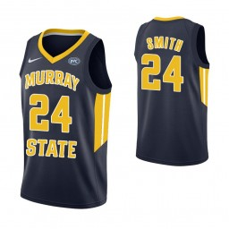 Youth Murray State Racers #24 Anthony Smith Replica College Basketball Jersey Navy
