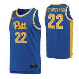 Youth Pittsburgh Panthers #22 Anthony Starzynski Royal Authentic College Basketball Jersey