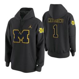 Michigan Wolverines #1 Charles Matthews Men's Anthracite College Basketball Hoodie
