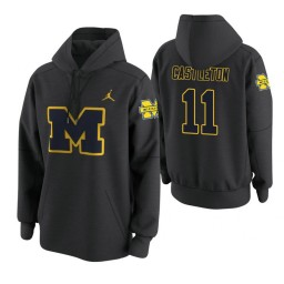 Michigan Wolverines #11 Colin Castleton Men's Anthracite College Basketball Hoodie
