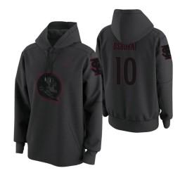 Florida State Seminoles #10 Malik Osborne Men's Anthracite College Basketball Hoodie