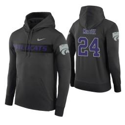 Kansas State Wildcats #24 Pierson McAtee Men's Anthracite Pullover Hoodie