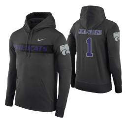 Kansas State Wildcats #1 Shaun Neal-Williams Men's Anthracite Pullover Hoodie
