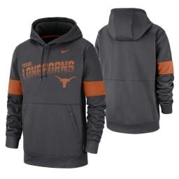 Texas Longhorns Anthracite Sideline Wordmark & Logo Performance Hoodie