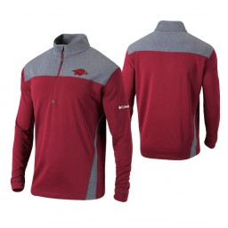 Arkansas Razorbacks Cardinal Omni-Wick Standard Quarter-Zip Jacket