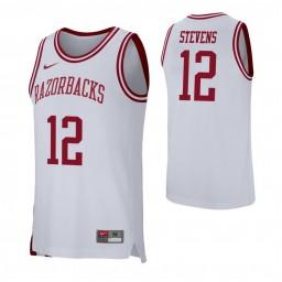 Arkansas Razorbacks #12 Ty Stevens White Authentic College Basketball Jersey