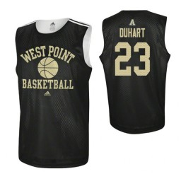 Army Black Knights #23 Aaron Duhart Practice Authentic College Basketball Jersey Black