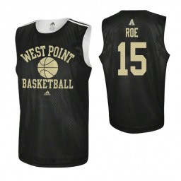 Army Black Knights #15 Adam Roe Practice Authentic College Basketball Jersey Black