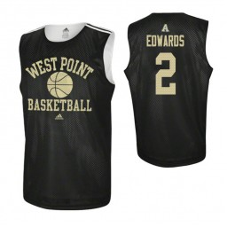 Army Black Knights #2 Cayne Edwards Practice Authentic College Basketball Jersey Black
