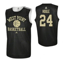 Army Black Knights #24 Jason Houle Practice Authentic College Basketball Jersey Black
