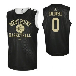 Army Black Knights #0 Josh Caldwell Practice Authentic College Basketball Jersey Black