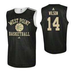 Army Black Knights #14 Matt Wilson Practice Authentic College Basketball Jersey Black