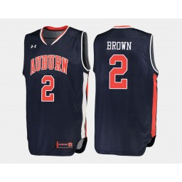 Auburn Tigers #2 Bryce Brown Navy Road Authentic College Basketball Jersey