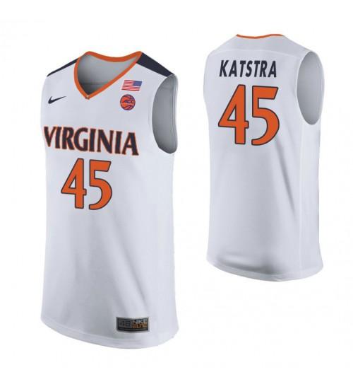 Austin Katstra Virginia Cavaliers Final Four Basketball Jersey - White
