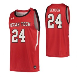 Youth Avery Benson Authentic College Basketball Jersey Red Texas Tech Red Raiders