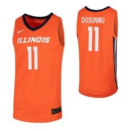 Illinois Fighting Illini #11 Ayo Dosunmu Orange Authentic College Basketball Jersey