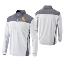 Baylor Bears White Omni-Wick Standard Quarter-Zip Jacket