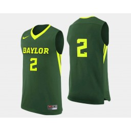 Youth Baylor Bears #2 Rico Gathers Green Road Authentic College Basketball Jersey