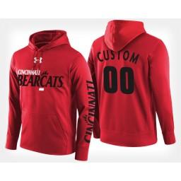 Cincinnati Bearcats #00 Custom Red Hoodie College Basketball