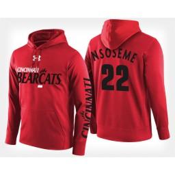 Cincinnati Bearcats #22 Eliel Nsoseme Red Hoodie College Basketball