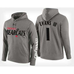 Cincinnati Bearcats #1 Jacob Evans III Gray Hoodie College Basketball