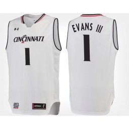 Cincinnati Bearcats #1 Jacob Evans III White Road Authentic College Basketball Jersey