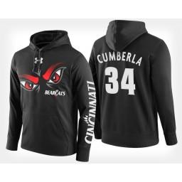 Cincinnati Bearcats #34 Jarron Cumberland Black Hoodie College Basketball