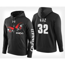 Cincinnati Bearcats #32 John Koz Black Hoodie College Basketball