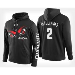 Cincinnati Bearcats #2 Keith Williams Black Hoodie College Basketball