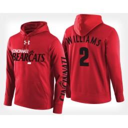 Cincinnati Bearcats #2 Keith Williams Red Hoodie College Basketball