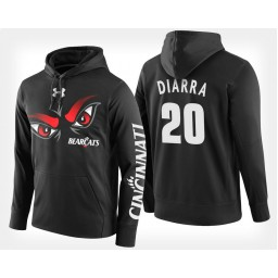 Cincinnati Bearcats #20 Mamoudou Diarra Black Hoodie College Basketball