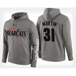 Cincinnati Bearcats #31 Sam Martin Gray Hoodie College Basketball